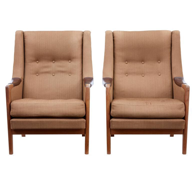 Pair of 1960s Scandinavian Modern Armchairs