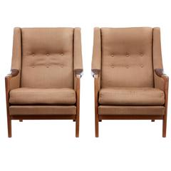Pair of 1960s Scandinavian Modern Armchairs