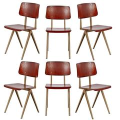 Set of Six Friso Kramer Result Chairs, circa 1958