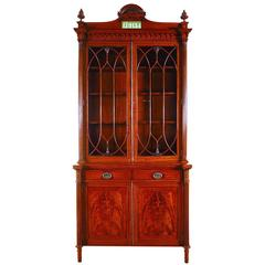 Exceptional Quality Satinwood and Inlaid Small Bookcase, circa 1900