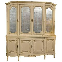 Maison Jansen Ivory Painted Bookcase