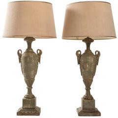 Pair of Urn Form Table Lamps