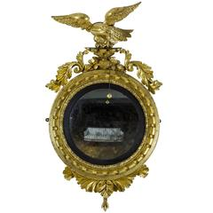 Classical Giltwood Girandole Mirror or Carved Eagle, English or American