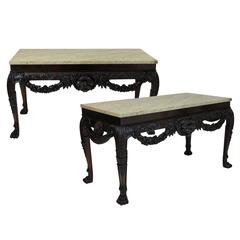 Pair of Large English William Kent Style Consoles