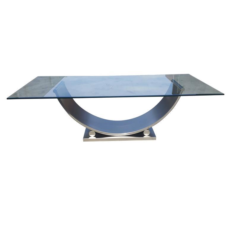 Belgo Chrome Dining Table, Mid-Century Modern