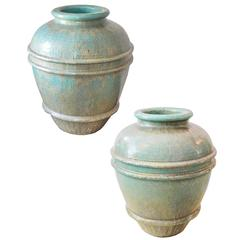 Pair of Large Urn Planters in the Manner of Galloway
