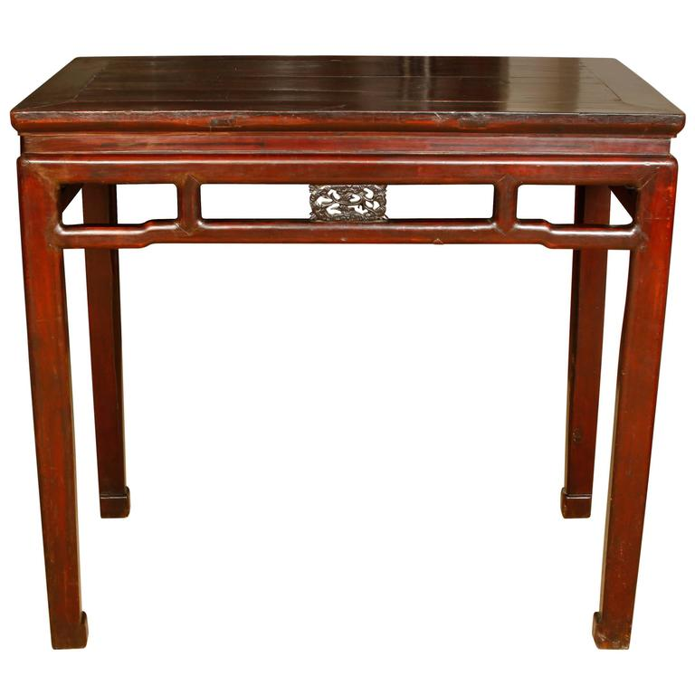 Antique asian elmwood table for sale at 1stdibs for Antique chinese tables for sale