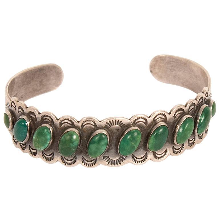 Silver Navajo Bracelet For