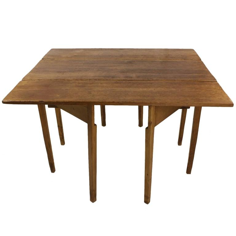 Distressed Antique Country English Drop Leaf Gateleg Table At 1stdibs
