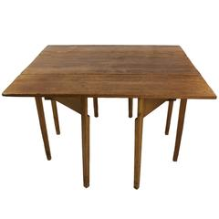 Distressed Antique Country English Drop-Leaf Gateleg Table