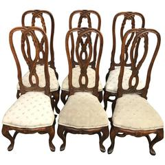 Set of Six Rococo Style Chairs