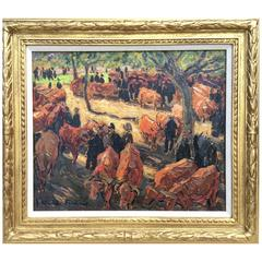 """The Cattle Auction"" by Jacques Martin-ferrières"