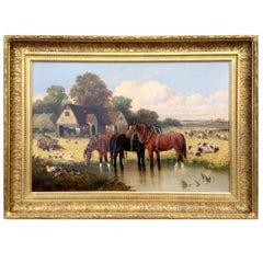 """On The Farm"" by John Frederick Herring Jr."
