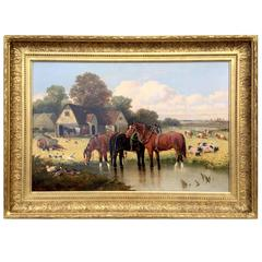 """On The Farm"" by John Frederick Herring Jr."