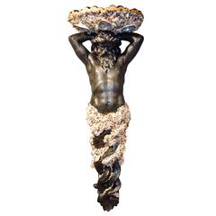 Shell and Rock Crystal Encrusted 20th Century Anthony Redmile Neptune Figure