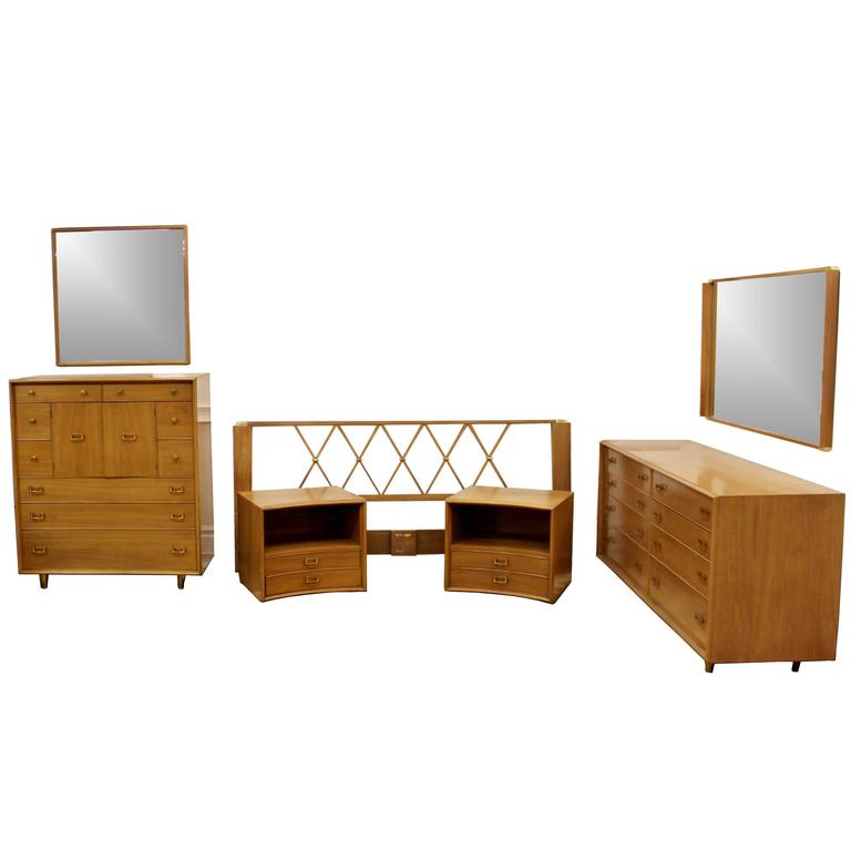 Mid century modern paul frankl satin birch emissary for Complete bedroom sets for sale
