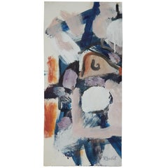 Harold Christopher Davies Abstract Expressionist Painting, circa 1960s