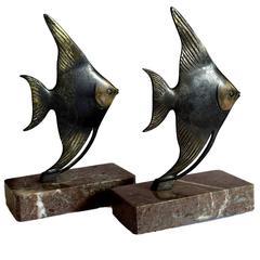 Art Deco Modernist Fish Bookends