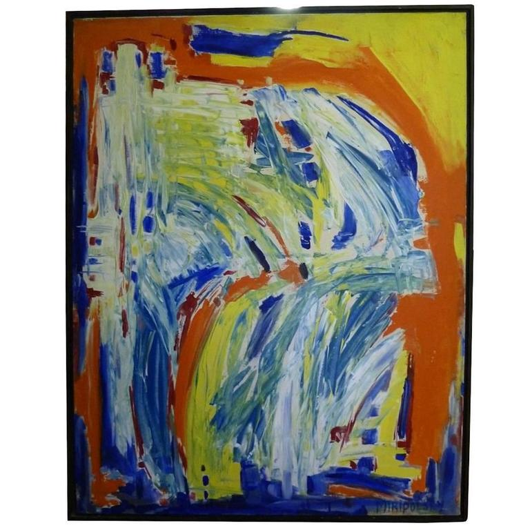 """""""In Motion"""" Colorful Abstract Painting by Bert Miripolsky"""