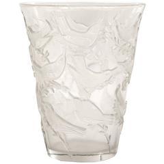 """René Lalique """"Grives"""" Vase"""