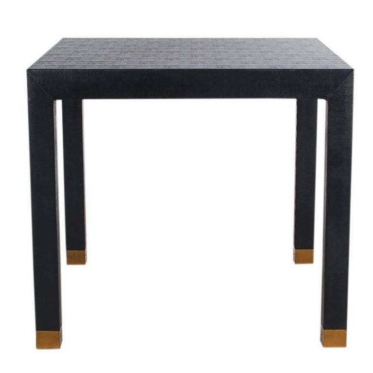 Mid Century Modern Parsons Square Card Table Or Dining