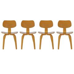 Mid-Century Modern Bentwood Dining Chairs by Thonet after Charles Eames DCW