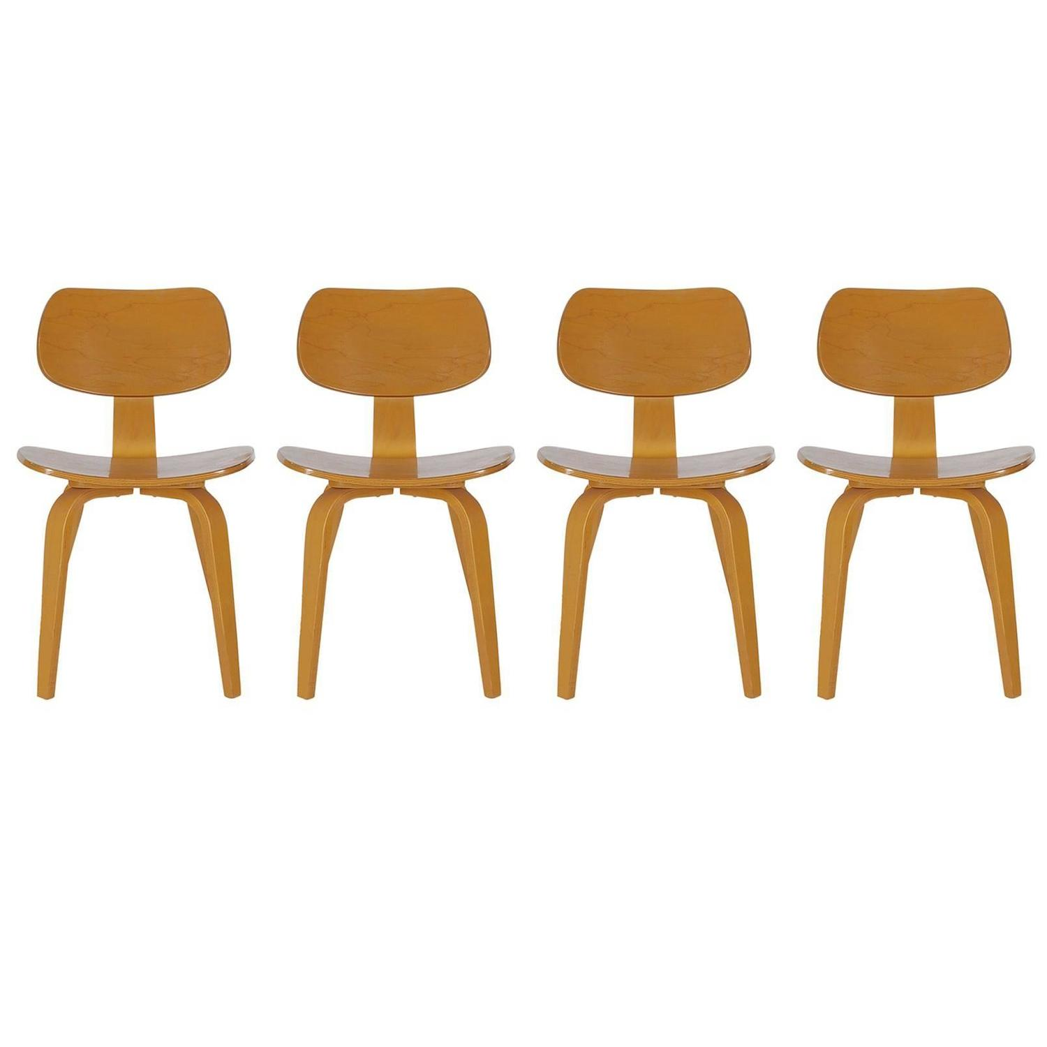 Bentwood chair modern - Mid Century Modern Bentwood Dining Chairs By Thonet After Charles Eames Dcw