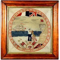 Sailor's Farewell Woolwork Woolie, circa 1875