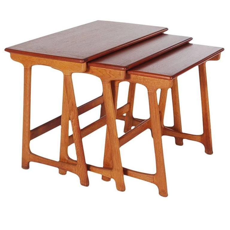 Mid-Century Danish Modern Teak Nesting Tables by Kai Kristiansen