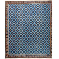 Oversized Vintage Indian Dhurrie Rug
