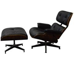Rosewood Charles Eames Lounge Chair and Ottoman for Herman Miller
