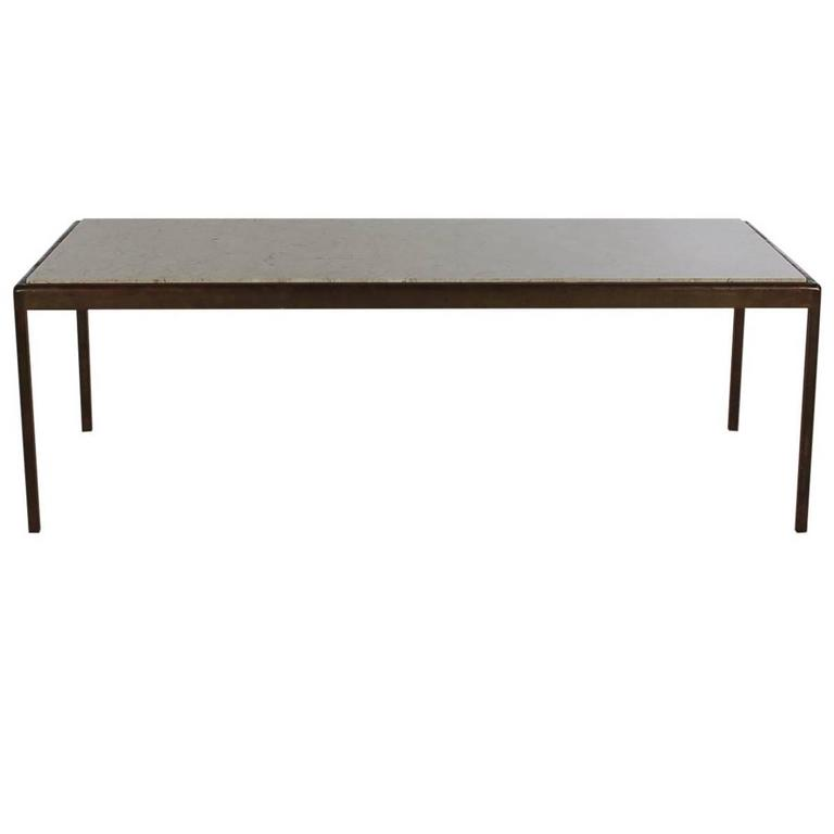 Fine Mid Century Modern Bronze And Marble Rectangular Cocktail Table After Knoll Machost Co Dining Chair Design Ideas Machostcouk