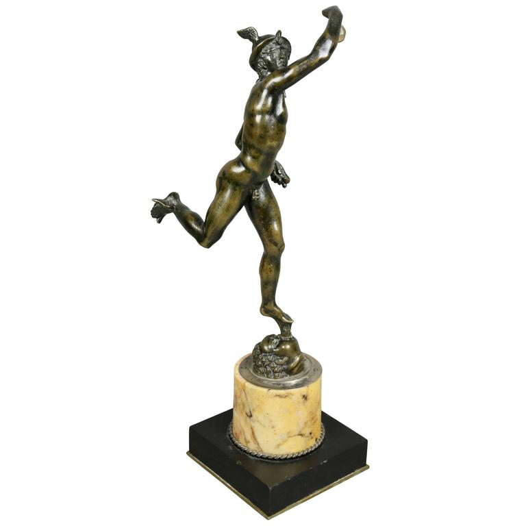 Italian Grand Tour Bronze Figure of Mercury