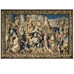 Tapestry of Aubusson, 17th Century, Triumph of Alexander