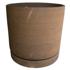Mid-Century Modern American Stoneware Planter with Tray by David Cressey for A.P