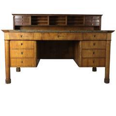 1820s Original Biedermaier Desk, Distressed