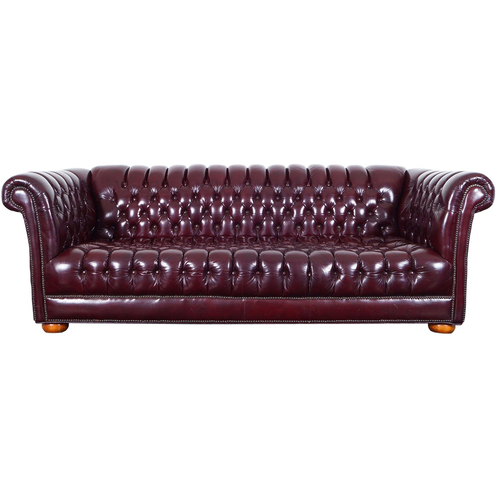 Superb Vintage Burgundy Leather Chesterfield Sofa Squirreltailoven Fun Painted Chair Ideas Images Squirreltailovenorg