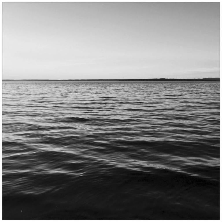 """Penobscot Bay, Maine"" Black and White Water Photograph Large Scale Print For Sale"