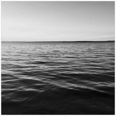 """Penobscot Bay, Maine"" Black and White Water Photograph Large Scale Print"