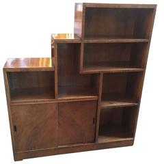French Art Deco Skyscraper Style Bookcase in the Style of Andre Sornay