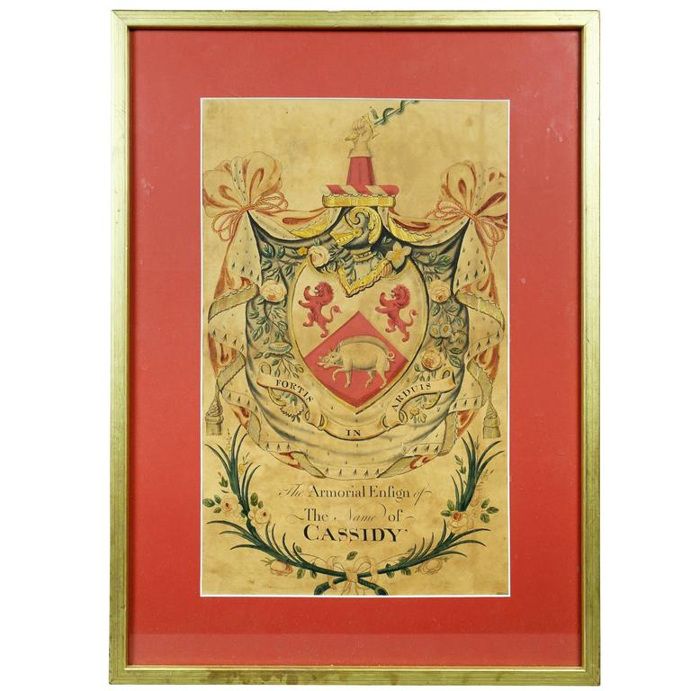 Framed Coat of Arms for Cassidy