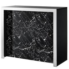 Mac Allister Bar with Black Resin Marble and Black Glass