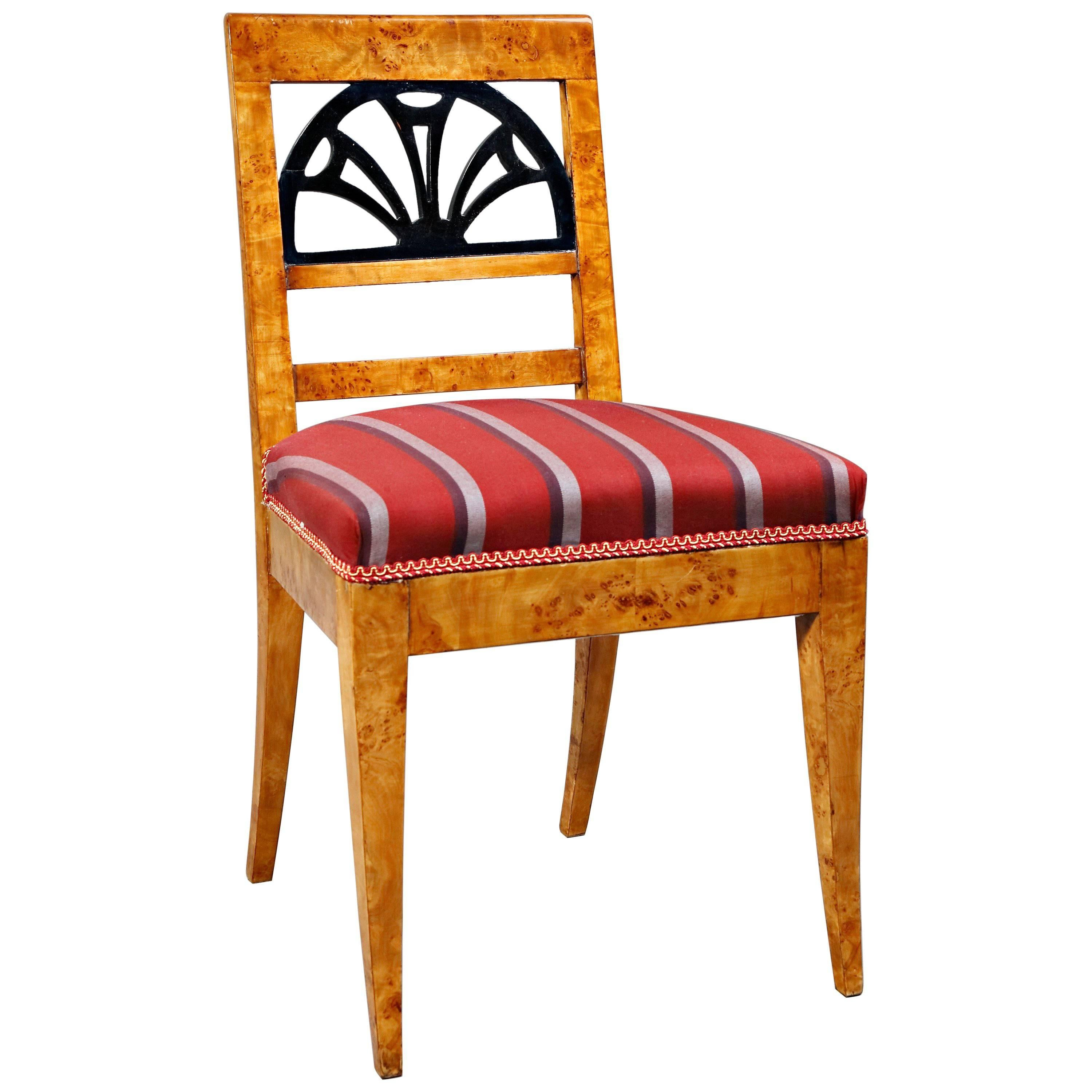 20th Century Elegant Classic Chair In The Biedermeier Style 1