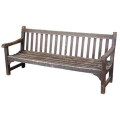Slatted Teak Bench from the London Zoo