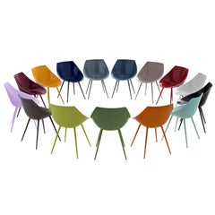 """""""Lago'"""" Lacquered Shell and Aluminum Legs Chair by Philippe Starck for Driade"""