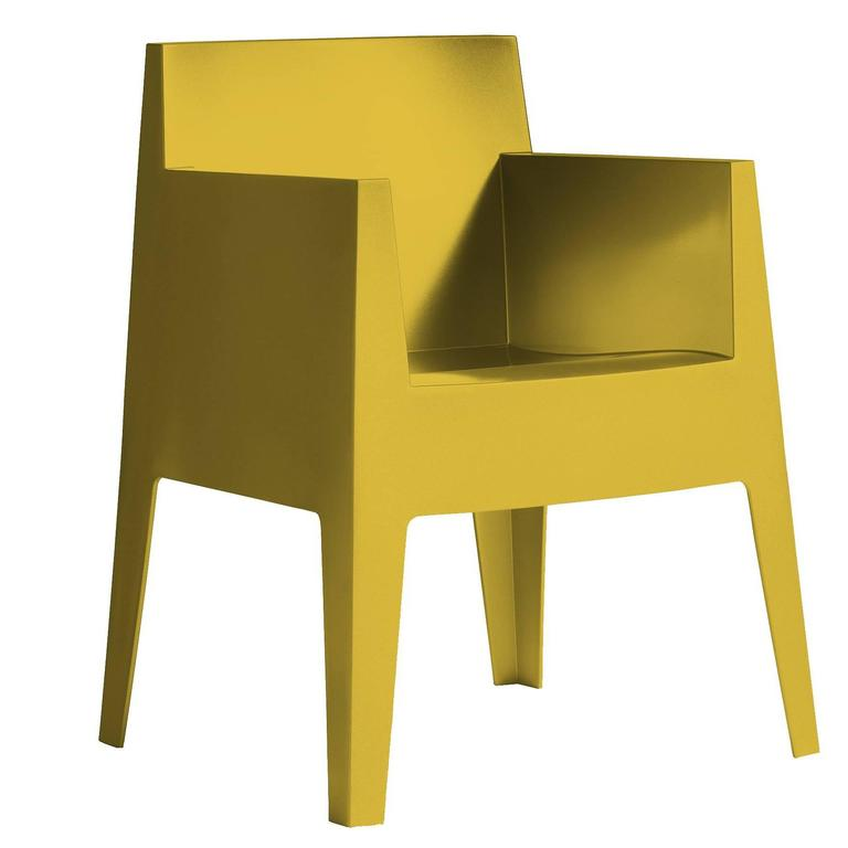 """Toy"" Mustard Yellow or Carnation Stackable Armchair by P. Starck for Driade"