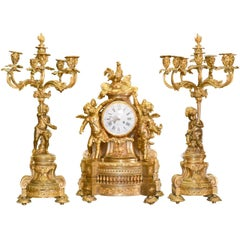 Magnificent 19th Century French Louis XV Garniture