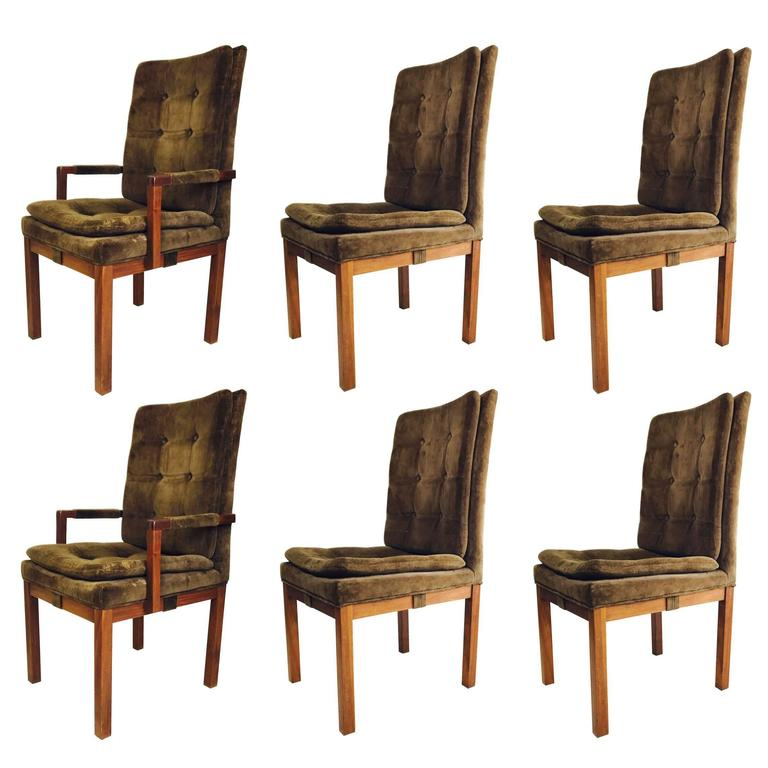 Set of Six Dining Chairs, by Milo Baughman for Dillingham
