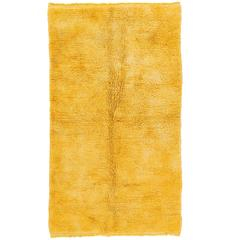 Plain Tulu Rug in Solid Yellow Color