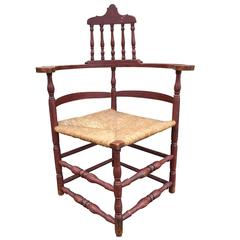Red 18th Century American Corner Chair